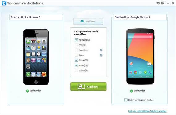 Vorgehensweise, wenn iTunes das iPhone, iPad …
